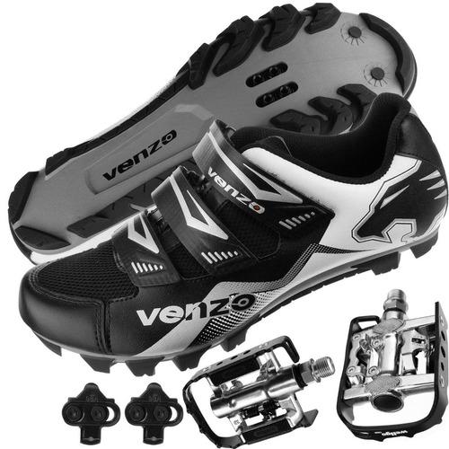 zapato ciclismo montaña shimano pedales venzo multiuso negro