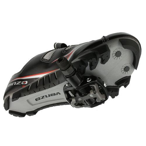 zapato ciclismo montaña shimano pedales venzo unisex negro