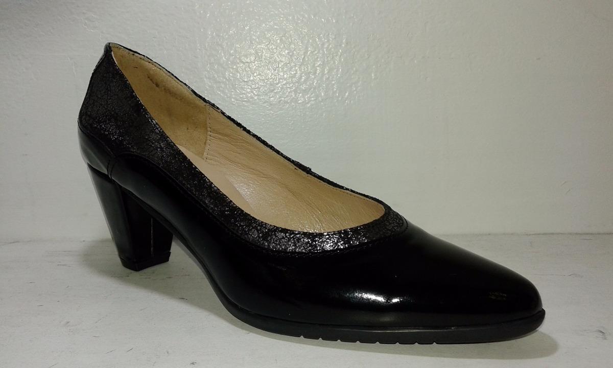 zapato clásico mujer taco evento vestir oficina cuero charol. Cargando zoom. da4ea93d4b23