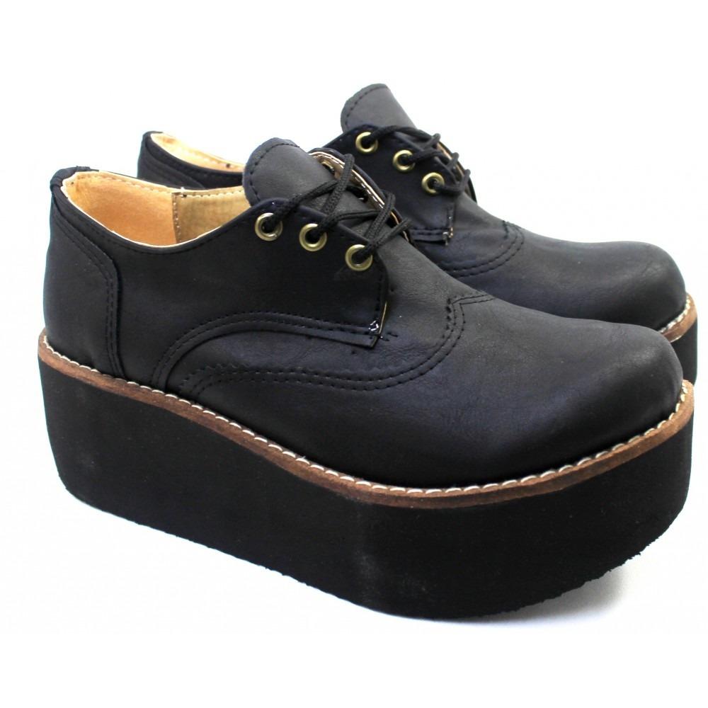 6a415a8f8d2 zapato con plataforma cordones carmela color negro 7300. Cargando zoom.