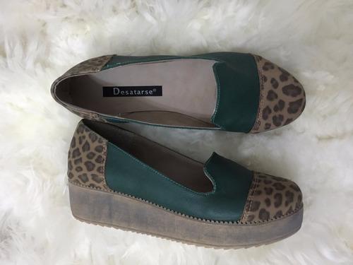 zapato con plataforma- tipo mocasin