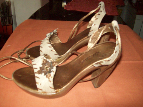 zapato con trenza para el tobillo tacón alto talla 37