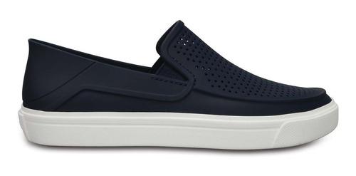 zapato crocs caballero citilane roka slip on azul marino