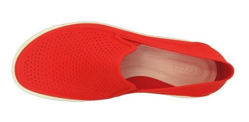 zapato crocs caballero citilane roka slip on rojo