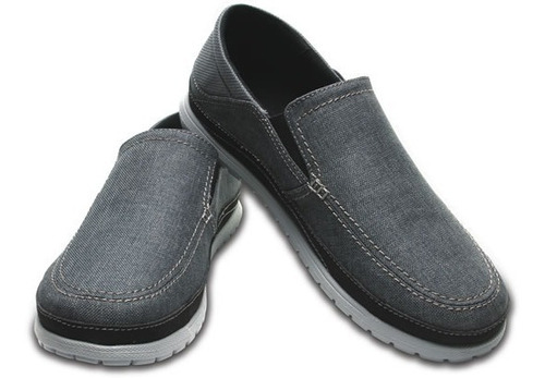 zapato crocs caballero santa cruz playa slip-on gris
