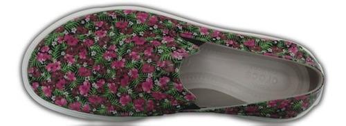 zapato crocs dama roka graphic slip on floral