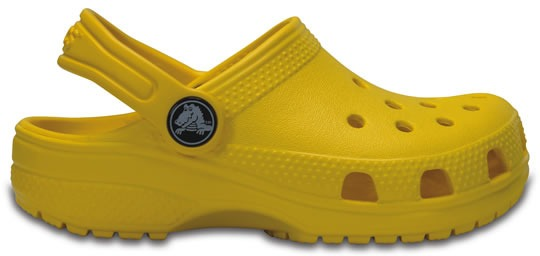 Zapatos amarillos Crocs infantiles PNdIn