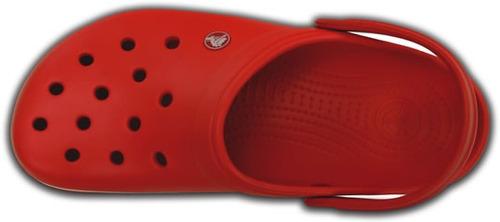 zapato crocs unisex adulto crocband rojo