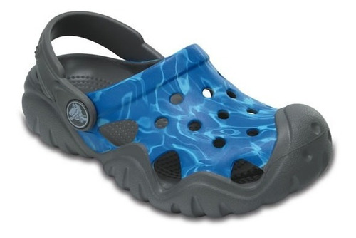 zapato crocs unisex infantil swiftwater graphic clog k