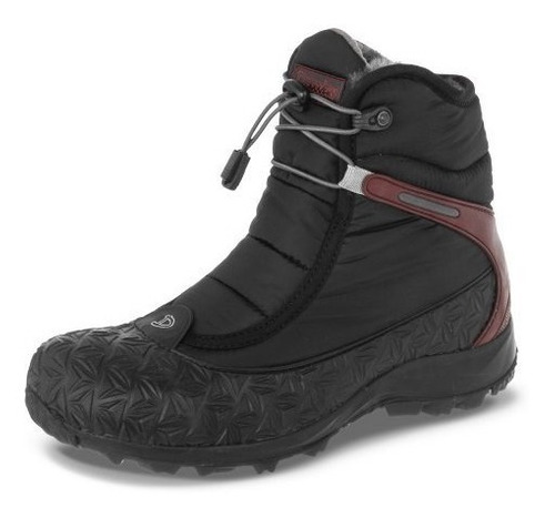 zapato croydon florell negro-vinotinto para mujer