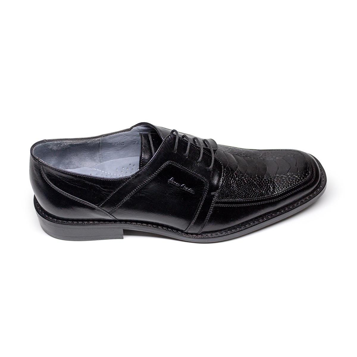 Zapato Cuadra Avestruz Color Negro 399900 En Mercado Libre