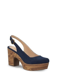 a7662aca Sandalias Tacon De Madera Sin Talon Zara Woman - Zapatos Azul marino ...