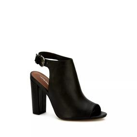 0d44f3be Zapatillas De Tacon Bajo Y Punta Abierta Mujer - Zapatos en Mercado ...
