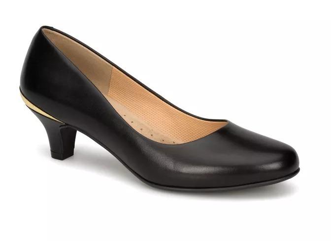 Zapato Dama Negro Doble Ancho Andrea 2423647 Tacón Bajo 6cm ... 3432baf4ad35