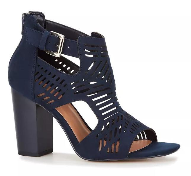 2d089e341 Zapato Dama Sandalia Azul Marino Andrea 2509006 Tacón Ancho ...