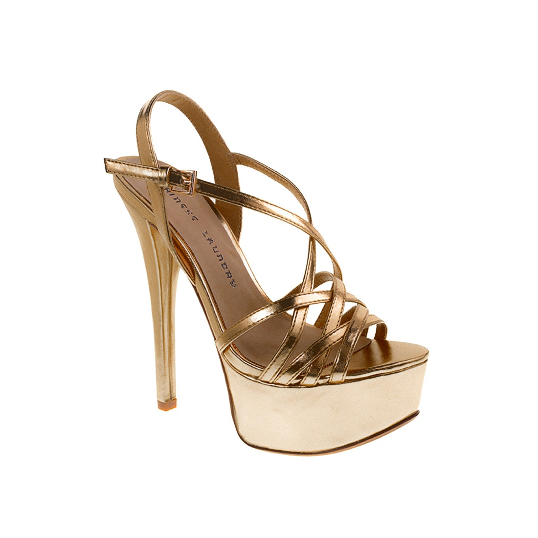d196599dd66 zapato dama sandalia teaser dorado hells chinese laundry. Cargando zoom.