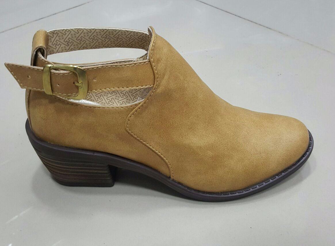 Zapato Dama Tacon Texana Miel Moda Colombia Calzado Mujer