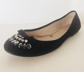 Zara Negro Con Zapato Dama Balerina Piedras40 Y6gyvb7f