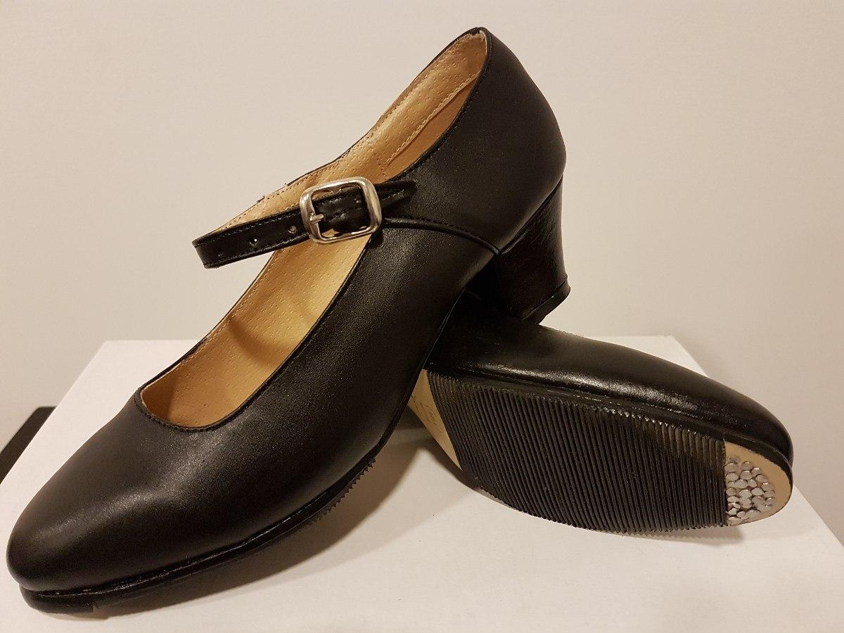 Danza Dama Gratis Zoom Envío Negro Cargando Piel Zapato Folklorica Para  FwxdqnfO 2da1459ed4b2