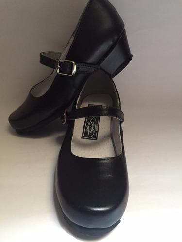 zapato danza regional folklórica piel 18 al 21mx