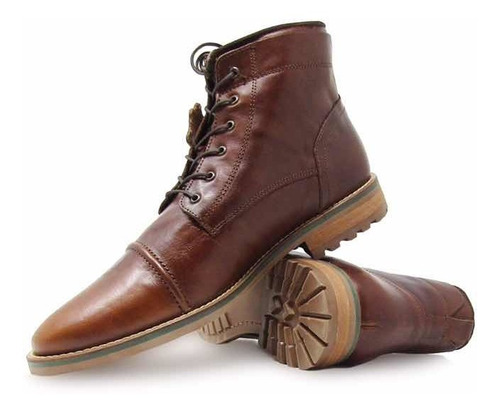 zapato de caballero tipo botín fina piel vacuno casual