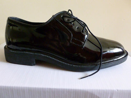zapato de charol hombre, elegante militar, piloto, gala t#42
