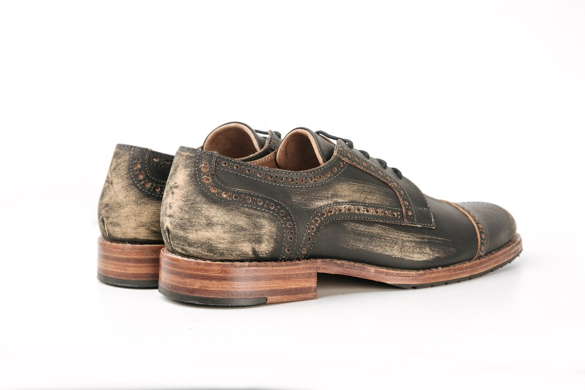 4cb8c949e60 zapato de cuero lincoln gastado marron granada riliv. Cargando zoom.