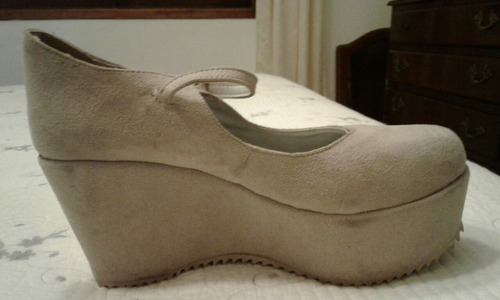 zapato de dama simil gamuza n`39