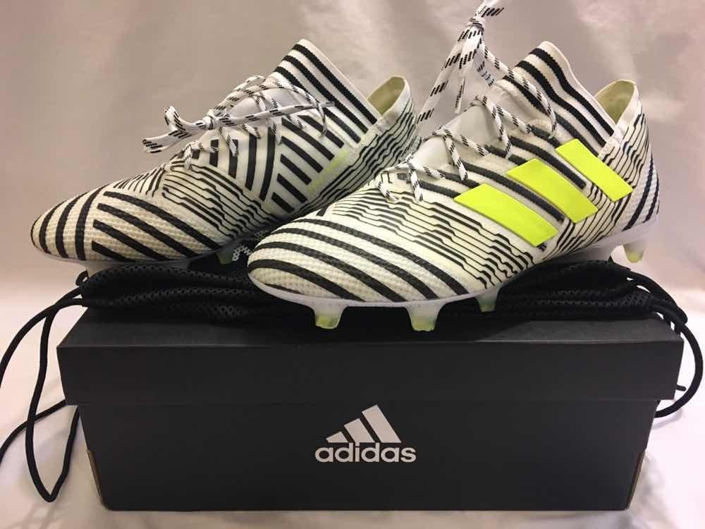 9863c34f0851 zapato de futbol profesional adidas nemeziz 17.1 white black. Cargando zoom.