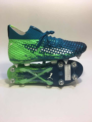 zapato de fútbol profesional puma future 18.1 sg green white