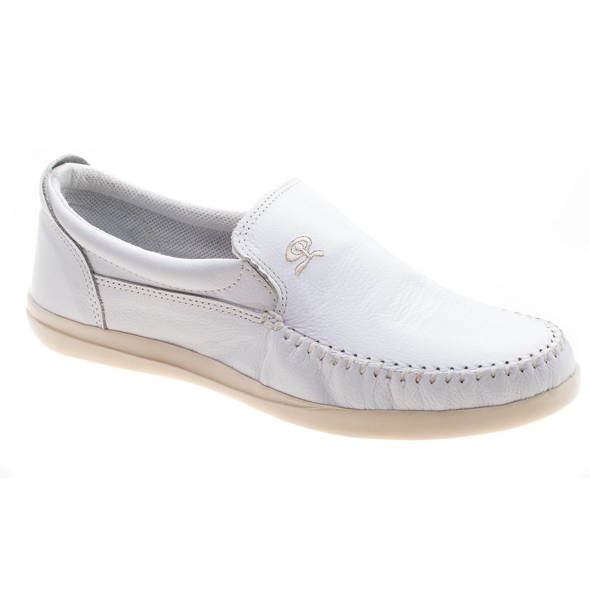 zapato de hombre mocasin nautico cuero blanco (base blanca). Cargando zoom. 7d60ea1fa7d7