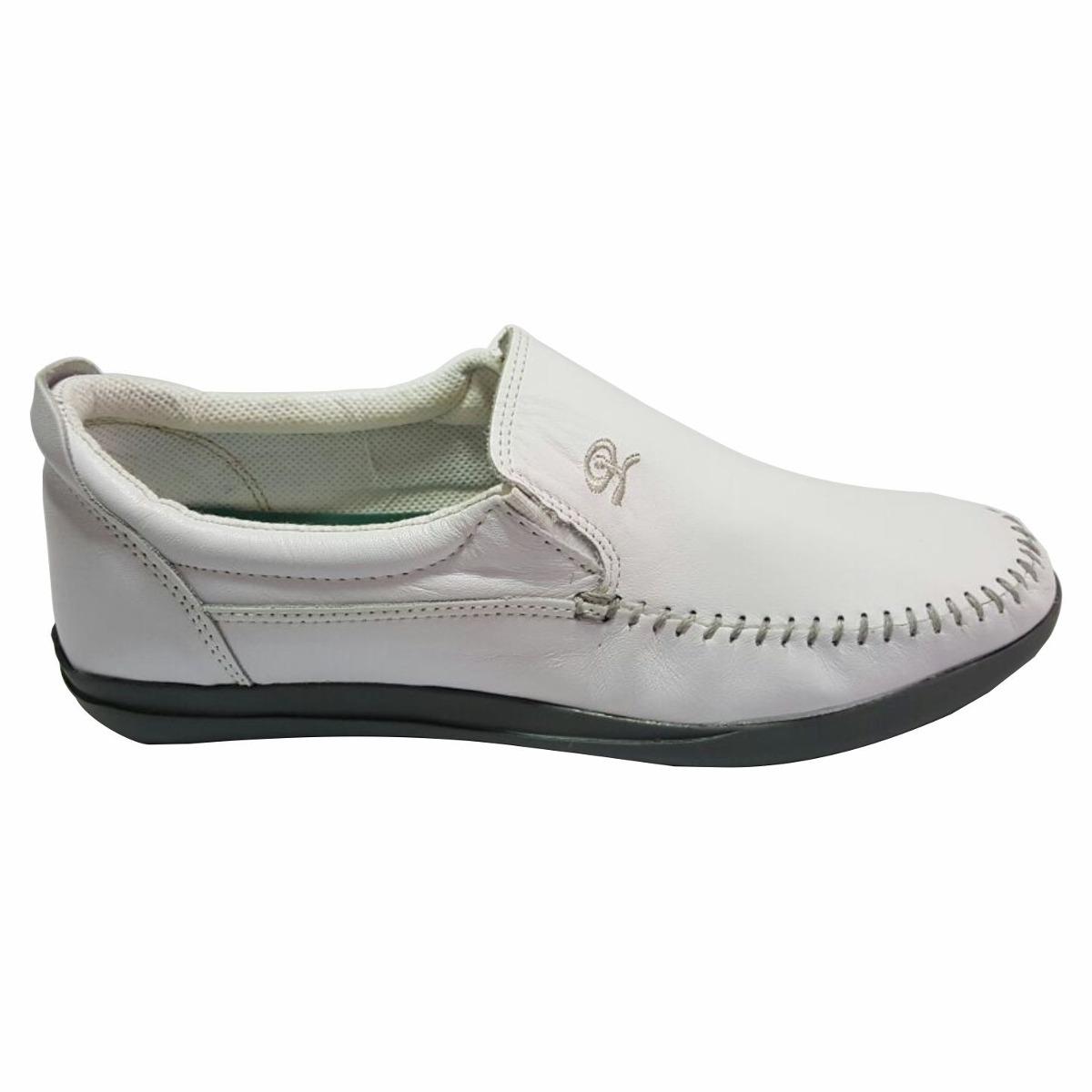 zapato de hombre mocasin náutico cuero blanco (base gris). Cargando zoom. b3c0bfbef870