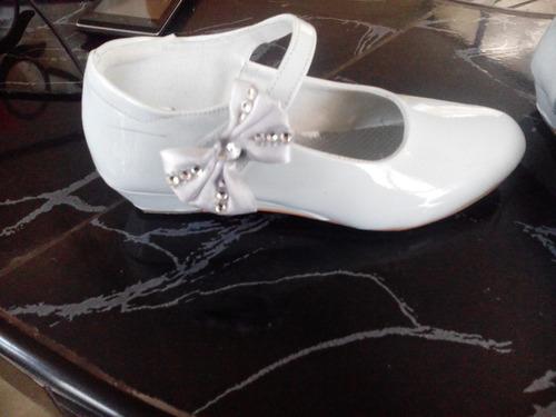 zapato de niña de fiesta charol blanco t 31