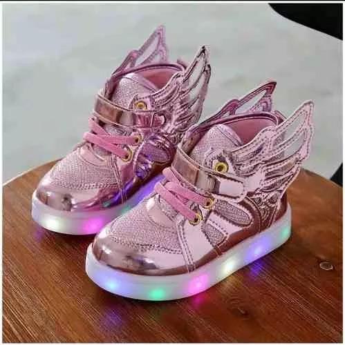 zapato de niña tenis led