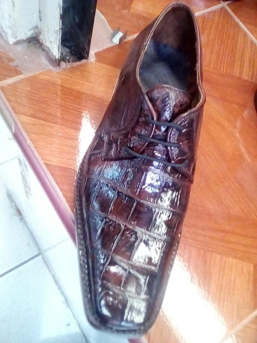 9bf314a0 Zapato De Panza Cocodrilo De Unasola Pza Al Frente - $ 1,890.00 en ...