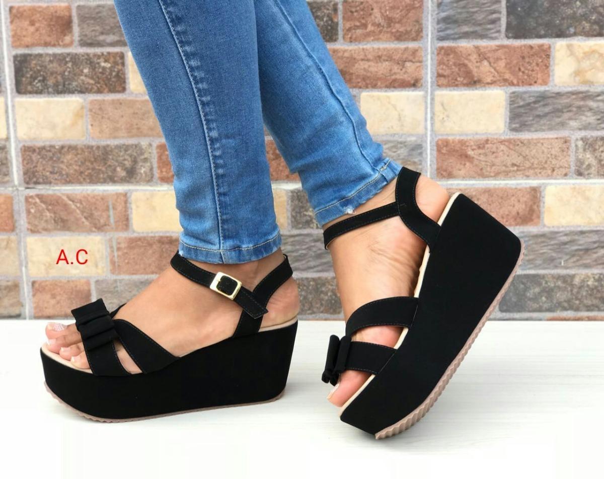 c2b100f4ba5 Zapato De Plataforma De Dama Color Negro Moda Elegancia -   82.320 ...