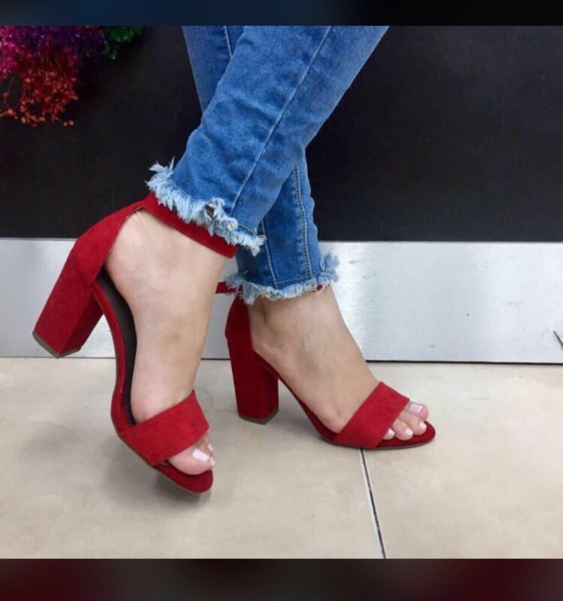 0b6933d33bb97 zapato de tacón rojo de moda en colombia dama moda mujer. Cargando zoom.