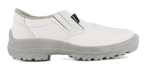 zapato de trabajo blanco con puntera carniceria frigorifico