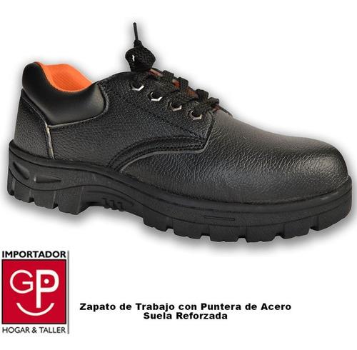 zapato de trabajo con puntera de acero suela reforzada negro