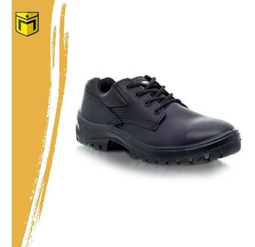 zapato de trabajo y seguridad ombu modelo prusiano negro
