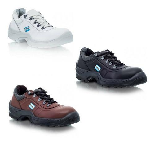 zapato de trabajo y seguridad ombu ozono negro  p/acero