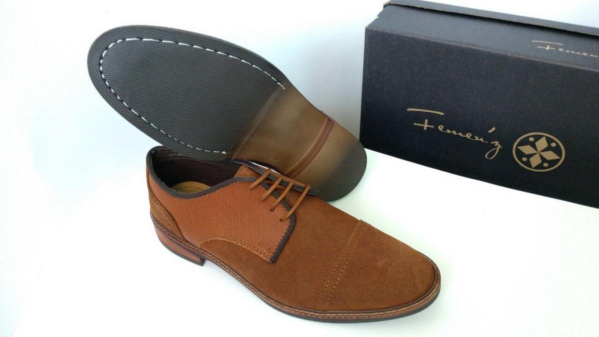 83787b9b4c6fe zapato de vestir gamuza moderno para caballero color café. Cargando zoom.