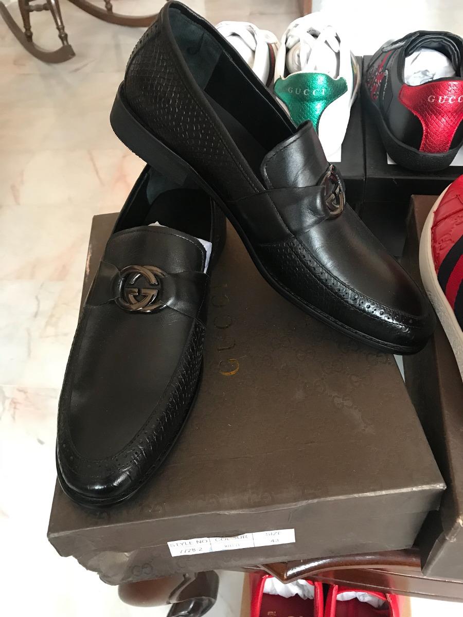 6a12ffe1c Zapato De Vestir Gucci Negros Piel - $ 2,500.00 en Mercado Libre