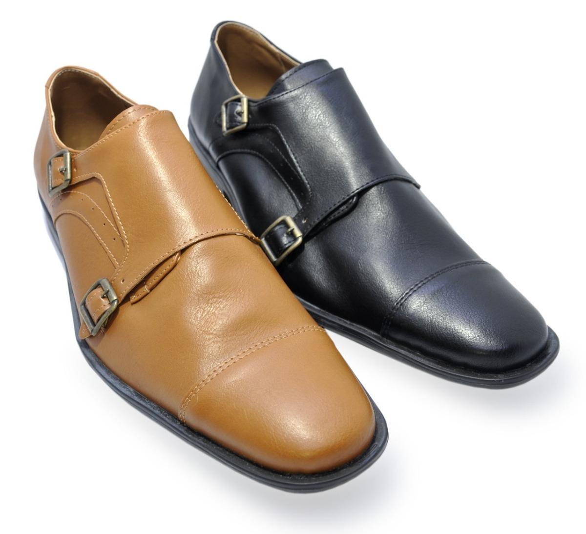 672df2907c10d zapato de vestir hombre con hebilla fiesta moda(2 colores). Cargando zoom.