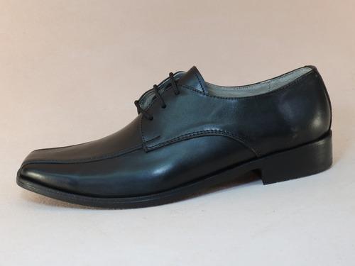 zapato de vestir para hombre, cuero negro, único par nro. 42
