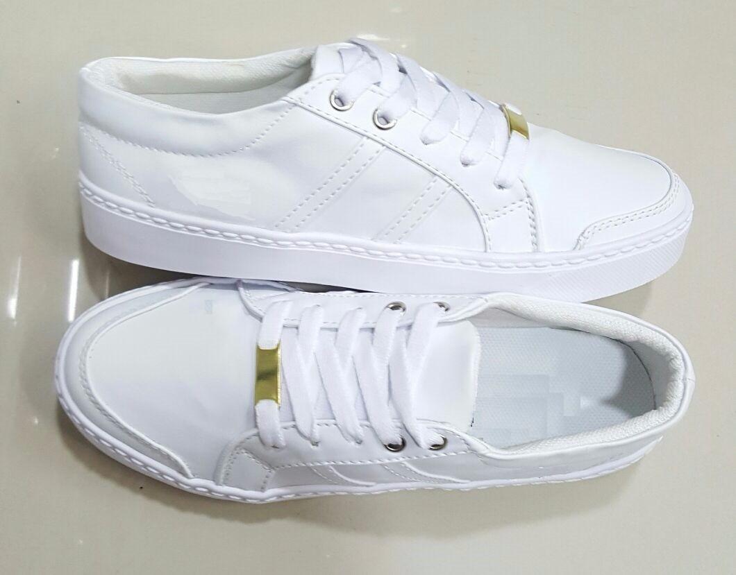 sombras de exuberante en diseño venta al por mayor Zapato Deportivo De Dama Cordón Blanco Suave Cómodo