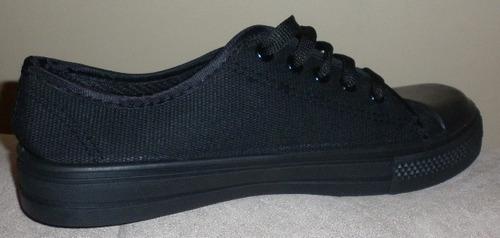 zapato deportivo escolar goma para niño dama hombre negros