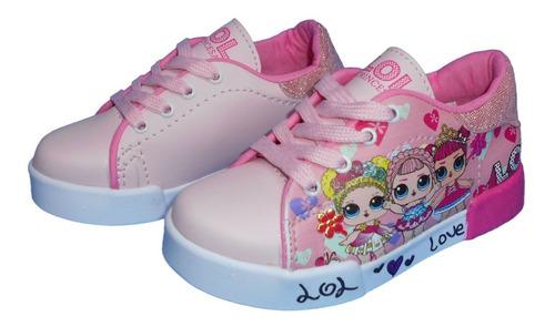 zapato deportivo lol niña tenis tallas  de  la  21 a la 32