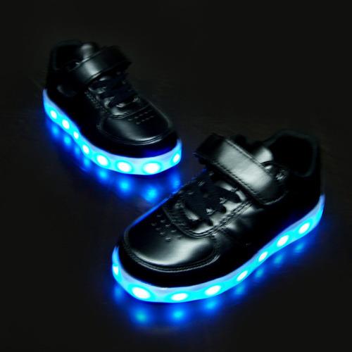 zapato deportivo luces led  + usb 27 al 35½