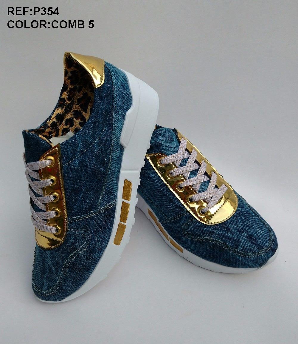 4320aef0 zapato deportivo mujeres en jeans azul de moda envío gratis. Cargando zoom.
